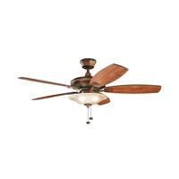 Kichler Rokr 3 Light Fan in Mediterranean Walnut 300179MDW