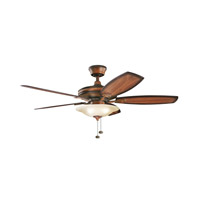 Kichler Rokr 3 Light Fan in Mediterranean Walnut 300179MDW