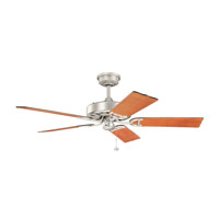 Fryst 52 inch Brushed Nickel with Walnut Blades Ceiling Fan