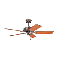 Fryst 52 inch Oil Brushed Bronze with Walnut Blades Ceiling Fan