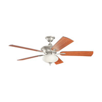 Kichler 300191NI Orrin 52 inch Brushed Nickel with Walnut Blades Ceiling Fan