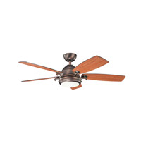 Kichler 300195OBB Clayton 52 inch Oil Brushed Bronze with Walnut Blades Ceiling Fan
