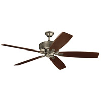 Monarch 70 inch Burnished Antique Pewter with Cherry/Weathered White Walnut Blades Ceiling Fan
