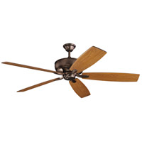 Kichler 300206OBB Monarch 70 inch Oil Brushed Bronze with Cherry/Walnut Blades Ceiling Fan