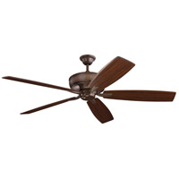 Kichler 300206TZ Monarch 70 inch Tannery Bronze with Teak/Cherry Blades Ceiling Fan