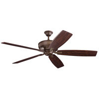 Kichler 300206TZ Monarch 70 inch Tannery Bronze with Teak/Cherry Blades Ceiling Fan alternative photo thumbnail