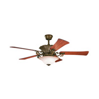 Kichler Rochelle 8 Light Fan in Carre Bronze 300207CZ