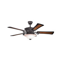 Kichler Rochelle 2 Light Fan in Distressed Black 300207DBK