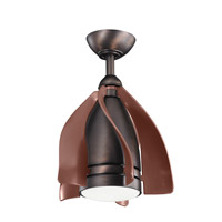 Terna 15 inch Oil Brushed Bronze with Clear Oil Brushed Bronze Blades Ceiling Fan