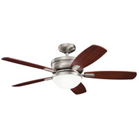 Kichler 300238AP Carlson 52 inch Antique Pewter with LIGHT CHERRY/BLACK CHERRY Blades Ceiling Fan