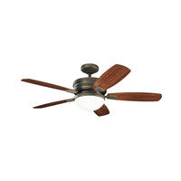 Kichler 300238OLZ Carlson 52 inch Oiled Bronze with MEDIUM CHERY/DARK CHERRY Blades Ceiling Fan