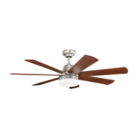 Ellys 56 inch Brushed Nickel with Silver Blades Ceiling Fan