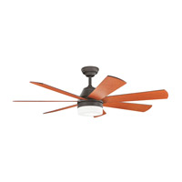 Ellys 56 inch Olde Bronze with Cherry Blades Ceiling Fan