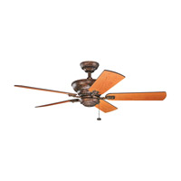 Kichler 300243BKZ Graystone 52 inch Berkshire Bronze with Light Cherry/Dark Cherry Blades Ceiling Fan