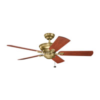 Graystone 52 inch Natural Brass with Medium Cherry/Dark Cherry Blades Ceiling Fan