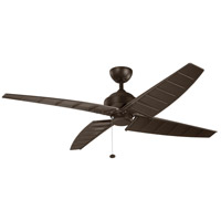 Surrey 60 inch Satin Natural Bronze Outdoor Ceiling Fan