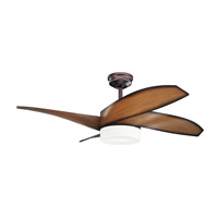 Kichler 300252OBB Nadia 52 inch Oil Brushed Bronze Walnut Shadowed Ceiling Fan