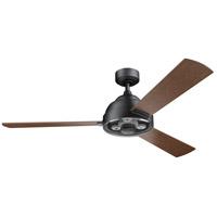 Kichler 300253DBK Pinion 60 inch Distressed Black with AUBURN STAINED Blades Ceiling Fan