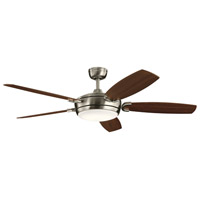 Kichler 300256BSS Trevor 60 inch Brushed Stainless Steel with Walnut/Cherry Blades Ceiling Fan