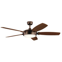 Kichler 300256OBB Trevor 60 inch Oil Brushed Bronze with Walnut/Cherry Blades Ceiling Fan