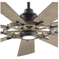 Kichler 300265AVI7 Gentry 65 inch Anvil Iron with DIST ANTIQ GRAY Blades Indoor/Outdoor Ceiling Fan in Antique Gray