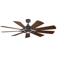 Kichler 300265WZC Gentry 65 inch Weathered Zinc with Weathered White/Dark Walnut Blades Indoor Ceiling Fan