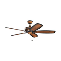 Kichler 300269MDW Ashbyrn 60 inch Mediterranean Walnut with Walnut/Walnut Shadowed Blades Ceiling Fan