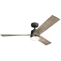 Spyn 52 inch Anvil Iron with Distressed Antique Grey Blades Indoor Ceiling Fan