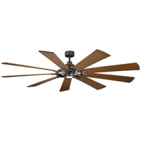Kichler 300285AVI Gentry XL 85 inch Anvil Iron with Distressed Antique Grey/Walnut Blades Indoor Ceiling Fan