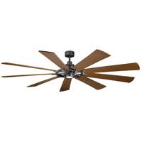 Kichler 300285AVI Gentry Xl 85 inch Anvil Iron with Distressed Antique Grey/Walnut Blades Indoor Ceiling Fan