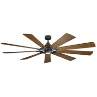 Kichler 300285DBK Gentry XL 85 inch Distressed Black with Walnut/Walnut Shadowed Blades Indoor Ceiling Fan