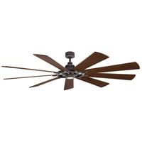 Kichler 300285WZC Gentry Xl 85 inch Weathered Zinc with Weathered White/Dark Walnut Blades Indoor Ceiling Fan
