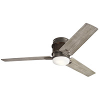 Chiara 52 inch Olde Bronze with Weathered Medium Oak Blades Indoor Ceiling Fan