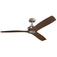 Kichler 300356NI Ried 56 inch Brushed Nickel with Med Walnut Blades Indoor Ceiling Fan