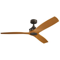 Kichler 300356OZ Ried 56 inch Olde Bronze with Cherry Blades Indoor Ceiling Fan