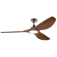 Kichler 300365PN Imari 65 inch Polished Nickel with Walnut Blades Indoor Ceiling Fan