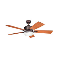 Kichler 300427OBB Leeds Oil Brushed Bronze with Walnut Ms-97503 Blades Fan