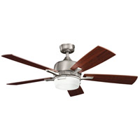 Kichler 300457AP Leeds 52 inch Antique Pewter with BLACK CHERRY/LIGHT CHERRY Blades Ceiling Fan