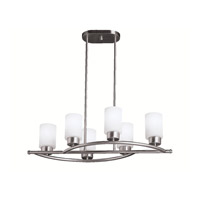 Kichler Lighting Modena 6 Light Island Light in Brushed Nickel 3031NI