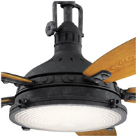 Kichler 310018DBK Hatteras Bay 52 inch Distressed Black with WALNUT/CHERRY Blades Ceiling Fan