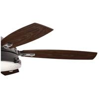 Kichler 310018WZC Hatteras Bay 52 inch Weathered Zinc with MEDIUM WALNUT/DARK WALNUT Blades Ceiling Fan