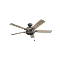 Uma 60 inch Anvil Iron with Distressed Antique Grey Blades Ceiling Fan