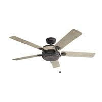 Kichler 310085WZC Uma 60 inch Weathered Zinc with Weathered White Blades Ceiling Fan