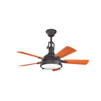Kichler Hatteras Bay Patio Fan in Distressed Black 310101DBK