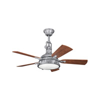 Kichler 310101GST Hatteras Bay Patio 44 inch Galvanized Steel with Walnut MS-97503 Blades Fan