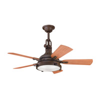 Hatteras Bay Patio Tannery Bronze Powder Coat with Walnut Blades Outdoor Fan