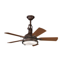Kichler 310101TZP Hatteras Bay Patio Tannery Bronze Powder Coat with Walnut Blades Outdoor Fan alternative photo thumbnail