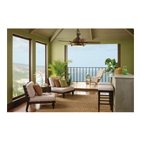 Kichler 310101WCP Hatteras Bay Patio Weathered Copper Powder Coat with Walnut Blades Outdoor Fan alternative photo thumbnail