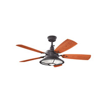 Kichler Harbour Walk Patio Fan in Distressed Black 310102DBK
