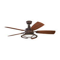 Kichler 310102TZP Harbour Walk Patio Tannery Bronze Powder Coat with Walnut Blades Outdoor Fan alternative photo thumbnail